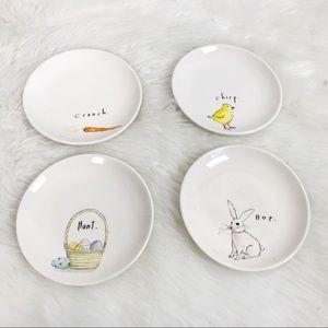 Rae Dunn 4 pc Easter Dessert Plates